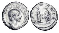 Ancient Coins - AQUILIA SEVERA, second wife of Elagabalus, 220 AD.  AR Denarius