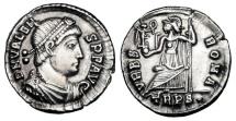 Ancient Coins - VALENS, 364-378 AD.  AR Siliqua.