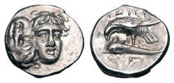 Ancient Coins - THRACE, Istros.  400-350 BC.  AR Drachm.
