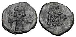 Ancient Coins - BYZANTINE EMPIRE.  Tiberios III, 698-705 AD.  AE Follis.  Rare.