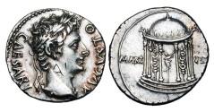 Ancient Coins - AUGUSTUS, 27 BC-14 AD.  AR Denarius