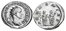 Ancient Coins - TRAJAN DECIUS,  249-251 AD.  AR Antoninianus.