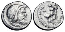 Ancient Coins - ROMAN REPUBLIC.  C. Vibius C. F. Pansa Caetronianus, 48 BC.  AR Denarius