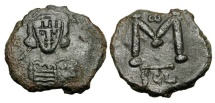 Ancient Coins - BYZANTINE EMPIRE.  Constantine IV, 668-685 AD.  Æ Follis.