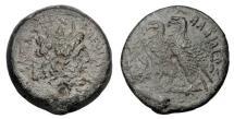 Ancient Coins - PTOLEMAIC KINGDOM.  Ptolemy VI, 180-145 BC.  Regency of Cleopatra, 180-170 BC. Æ29.
