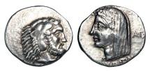 CARIA, Kos.  Age Magistrate, 345-340 BC.  AR Didrachm.  Scarce.