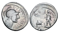 Ancient Coins - POMPEY THE GREAT, 57-48 BC.  AR Denarius
