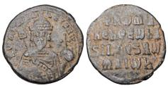 Ancient Coins - BYZANTINE EMPIRE.  Romanos I, 920-944 AD.  Æ Follis.