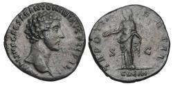 Ancient Coins - MARCUS AURELIUS, 161-180 AD.  Æ Sestertius.