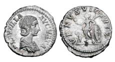 Ancient Coins - PLAUTILLA, wife of Caracalla,  died 212 AD.  AR Denarius.  ex John Roberts-Lewis collection.