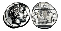 Ancient Coins - CHALKIDIAN LEAGUE.  432-348 BC.  AR Tetrobol