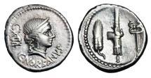 Ancient Coins - ROMAN REPUBLIC.  C. Norbanus, 83 BC.  AR Denarius.