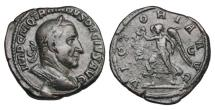 Ancient Coins - TRAJAN DECIUS, 249-251 AD.  Æ Sestertius.  ex Hoffman collection.