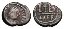 Ancient Coins - BYZANTINE EMPIRE.   Maurice Tiberius, 582-602 AD.  Æ 12 Nummi.