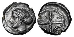 Ancient Coins - SICILY, Syracuse.  After 425 BC.  ®16.