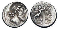 Ancient Coins - SELEUKID KINGDOM, Demetrios II Nikator, 2nd reign,129-125 BC.  AR Drachm.
