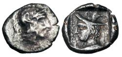 Ancient Coins - LYCIAN DYNASTS.  Kherei, dynast of Telmessos, 410- 390 BC.  AR Stater.  Very Rare.