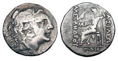Ancient Coins - KINGDOM OF MACEDON.  Alexander III, 336-323 BC. AR Tetradrachm.