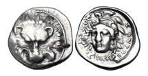 Ancient Coins - LYCIAN DYNASTS.  Zagaba, 400-380 BC. AR Third Stater.