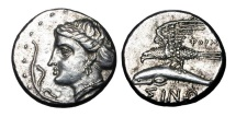 Ancient Coins - PAPHLAGONIA, Sinope.  330-300 BC.  AR Drachm