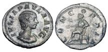 Ancient Coins - JULIA PAULA, first wife of Elagabalus, 219 AD.  AR Denarius