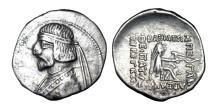 Ancient Coins - PARTHIA.  Arsakes XVI, 78-61 BC.   AR Drachm.