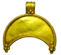 Ancient Coins - Gold Lunate Pendant.  Hellenistic Greece, II-I Century BC.