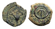 Ancient Coins - ANCIENT JUDAEA.  Alexander Jannaeus, 104-76 BC.  AE Prutah.