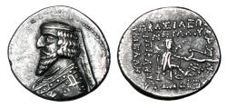 Ancient Coins - PARTHIA.  Phraates III, 70-57 BC.  AR Drachm.  ex PNC collection.