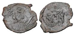 Ancient Coins - BYZANTINE EMPIRE.  Constantine IV, 668-685 AD.  Æ Follis.