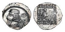 Ancient Coins - PARTHIAN KINGDOM.  Vologases I, 51-78 AD.  AR Drachm.