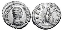 Ancient Coins - PLAUTILLA, wife of Caracalla, died 212 AD. AR Denarius of Rome, 202-3 AD.
