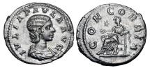 Ancient Coins - JULIA PAULA, first wife of Elagabalus, 219 AD.  AR Denarius …
