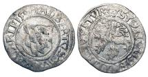 World Coins - GERMANY, Bavaria.  Albrecht IV, 1505-1508 AD.  AR Half Batzen (1.72 gm), 1506.  Shield of arms / Lion rampant.  Saurm.977.  aXF.