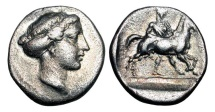 Ancient Coins - THESSALY, Larissa.  420-400 BC.  AR Drachm
