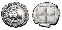Ancient Coins - MACEDON, Akanthos.  470-390 BC.  AR Tetrobol.