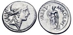Ancient Coins - ROMAN REPUBLIC.  Man. Acilius Glabrio, 49 BC.  AR Denarius