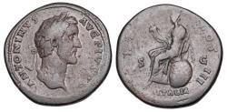 Ancient Coins - ANTONINUS PIUS, 138-161 AD.  Æ Sestertius.