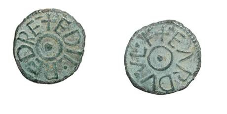 World Coins - ENGLAND, Northumbria.  Aethelred II, second reign 844-862  AD.  Æ Styca (0.90 gm), EARDVVLF.  Cross in circle / Pellet in circle.  N.190.  S.868.    VF+, green patina.