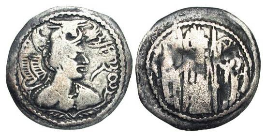 Ancient Coins - HEPHTHALITES.  Napki Malik coinage 475-576 AD.  AR Drachm (3.40 gm) of Kabul valley and Zabul.  Crowned draped bust / Fire-altar with attendants.  M.1510.  Toned aVF (for issue).