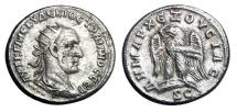 Ancient Coins - Antioch.  Trajan Decius, 249-251 AD.  AR  Tetradrachm