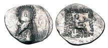 Ancient Coins - PARTHIA.  Sinatrukes, 93-69 BC.  AR Drachm.