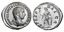 Ancient Coins - DIADUMENIAN, 218 AD.  AR Denarius.