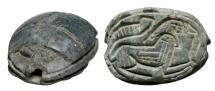 Ancient Coins - Steatite Scarab.  Egypt, New Kingdom, XV-XI Century BC.