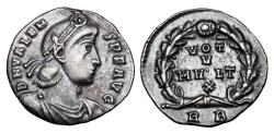 Ancient Coins - VALENS, 364-378 AD.  AR Siliqua.  ex E. Harptree Hoard.