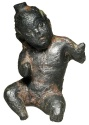 Ancient Coins - Bronze Figurine of Horus-the-Child.  Late Ptolemaic Egypt, II-I Century BC.
