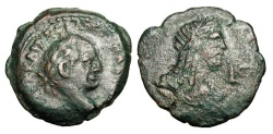 Ancient Coins - ROMAN EGYPT. Vespasian,  69-79 AD .  Æ Diobol.
