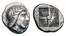 Ancient Coins - IONIA, Kolophon.  450-410 BC.  AR Hemiobol.