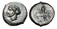 Ancient Coins - SICILY, Syracuse.  IV Century BC.  AE Tetras