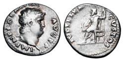 Ancient Coins - NERO, 54-68 AD.  AR Denarius.  Rare.